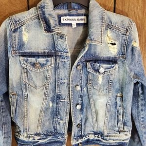 Express Distressed Jean Jacket Size Small